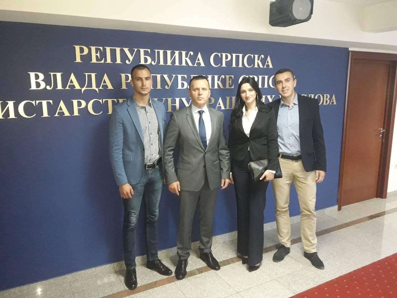 Представници Студентске организације Факултета безбједносних наука на пријему код министра унутрашњих послова