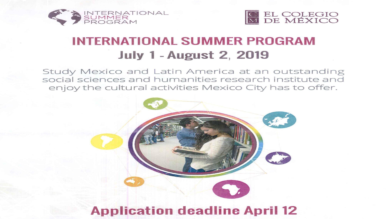 Међународни љетни програм 2019 – El Colegio de México