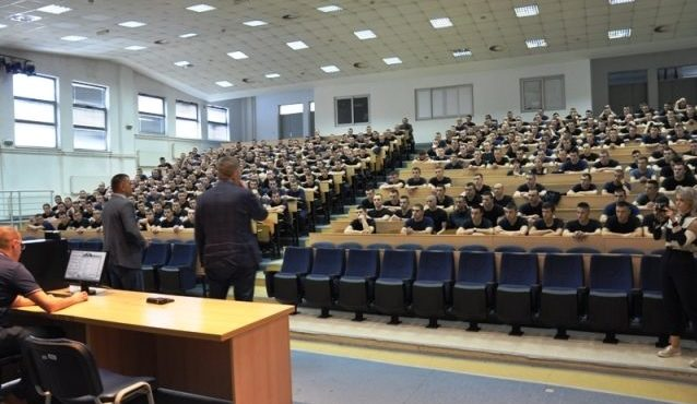 Dean Dr. Predrag Ceranic Gave A Lecture To Cadets PA
