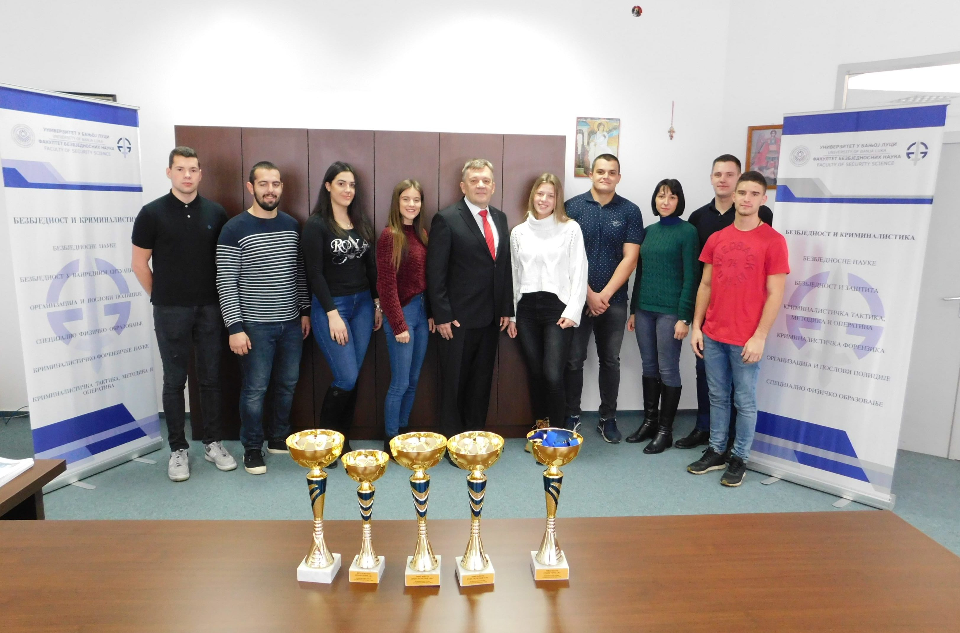 """Excellent success of the students of the Faculty of Security Science in the """"Student Brigade"""" tournament"""