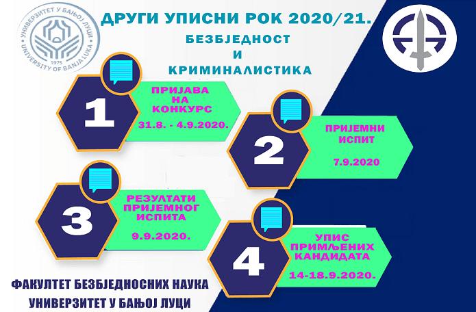 Пријава кандидата до петка 04.09. Пријемни испит 07.09. од 7.00 часова