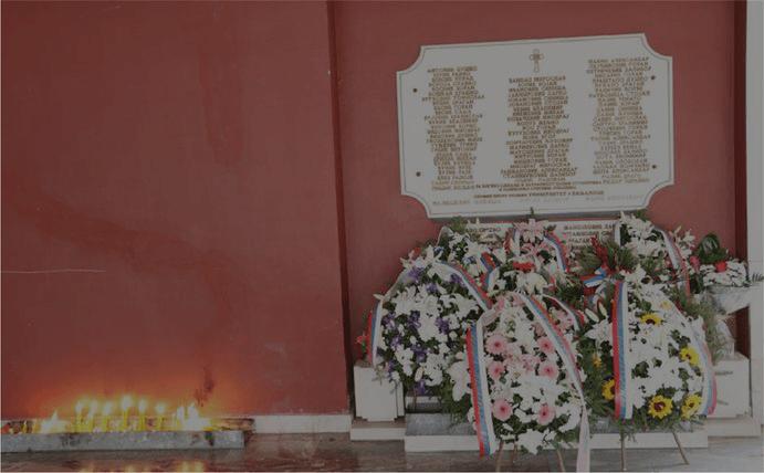Одржан помен и положени вијенци на Спомен-плочу погинулим студентима и радницима Универзитета у Бањој Луци