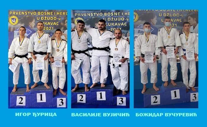 Два злата и сребро за студенте ФБН-а на џудо првенству БиХ за сениоре